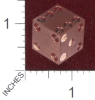Dice : MINT36 CYBERNETIC RESEARCH LABORATORIES AMBER RIX MACHINED PRECISION DICE COPPER