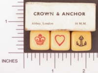 Dice : MINT1 ABBEY CROWN AND ANCHOR 01