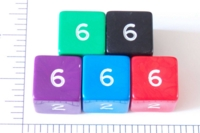 Dice : NUMBERED OPAQUE ROUNDED SOLID JUMBO