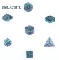 Dice : STONE MULTI CRYSTAL CASTE MALACHITE