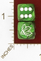 Dice : MINT25 CHESSEX CUSTOM FOR JSPASSNTHRU HOLLY 01