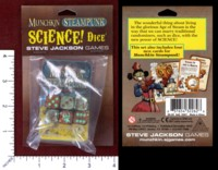 Dice : MINT48 STEVE JACKSON MUNCHKIN STEAMPUNK SCIENCE DICE