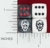Dice : MINT15 KING ZOMBIE CHESSEX CUSTOM 16
