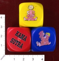 Dice : FOAM3 OZZE CREATIONS KAMA SUTRA ANTI STRESS DICE