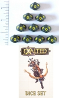 Dice : D10 OPAQUE ROUNDED GLITTER WW EXALTED