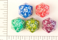 Dice : D20 OPAQUE ROUNDED SPECKLED KOPLOW 01