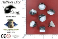Dice : MINT52 GATE KEEPER GAMES HALFSIES DICE YIN YANG