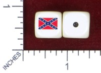 Dice : MINT46 HOMEMADE CONFEDERATE BATTLE FLAG