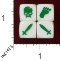 Dice : MINT39 ATTACK DICE DUNGEON ATTACK POISON MONSTER DICE