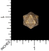 Dice : MINT56 TRAYSER METAL WORKS BRONZE D20 COMPANION