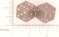 Dice : METAL ALUMINUM D6 ACE PRECISION PIPPED 01