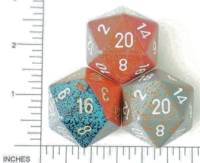Dice : D20 OPAQUE ROUNDED SPECKLED JUMBO