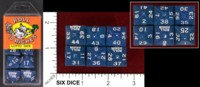 Dice : LOTTERY ML MARKETING ROLL TO RICHES LOTTO DICE BLUE 44