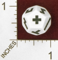 Dice : D12 OPAQUE ROUNDED SOLID  ERIC HARSHBARGER PENTOMINOES DIE 01