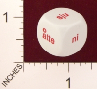Dice : MINT19 KOPLOW NORWEGIAN WORDS FOR NUMBERS 01