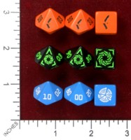 Dice : MINT46 ADAM LUDWIG Q WORKSHOP CYPHER SYSTEMS GAMES
