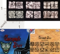 Dice : METAL PEWTER D6 TIMELINE ANCESTORS OF DOVER GARGOYLE DICE 01