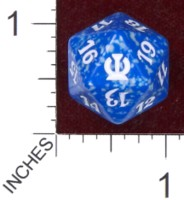 Dice : D20 OPAQUE ROUNDED SPECKLED MTG LIFE COUNTERS THEROS 03