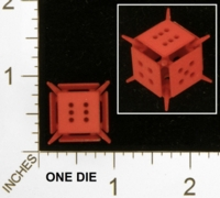 Dice : MINT25 SHAPEWAYS MCTRIVIA OPEN FACE SPIKED DIE