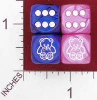 Dice : MINT27 CHESSEX CUSTOM FOR JSPASSNTHRU TEDDY BEAR 01