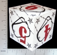Dice : PAPER D06 Q-WORKSHOP DICE DESIGN CONTEST NOVEMBER 2007 THOMAS PASIEKA 01 DOGTAG CONTEST WINNER