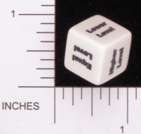 Dice : NON NUMBERED OPAQUE ROUNDED SOLID CHESSEX CHARACTER BUILDER LEVEL 01