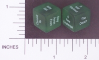 Dice : NON NUMBERED TRANSLUCENT ROUNDED SOLID DESTINY DICE WORKOUT 01