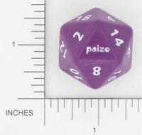 Dice : D20 OPAQUE ROUNDED SOLID CRYSTAL CASTE CUSTOM FOR PAIZO 01