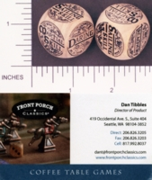 Dice : WOOD FRONT PORCH CLASSICS LEAGUE OF PIRATES 01