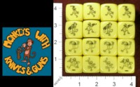 Dice : MINT35 BLACKBALL GAMES MONKEYS WITH KNIVES AND GUNS