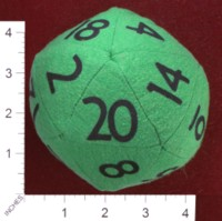 Dice : FOAM3 ETSY FROGGYCREATIONS D20 01