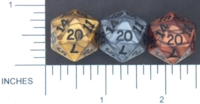 Dice : D20 OPAQUE SHARP IRIDESCENT 01 KOPLOW OLYMPIC