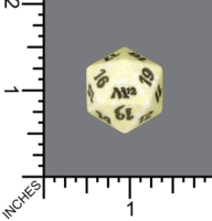 Dice : D20 MTG OPAQUE ROUNDED SPECKLED WIZARDS OF THE COAST MTG M12 02