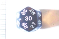 Dice : D30 CLEAR ROUNDED SOLID 2