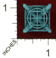 Dice : MINT43 SHAPEWAYS MCTRIVIA D6 GRID DIE 12 11
