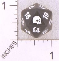 Dice : D20 TRANSLUCENT ROUNDED SOLID MTG LIFE COUNTERS GRAVEBORN 01
