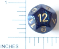 Dice : D12 OPAQUE ROUNDED IRIDESCENT CHESSEX SCARAB