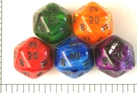 Dice : D20 OPAQUE ROUNDED SWIRL CC SILK 1