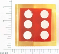 Dice : LG PLASTIC 2 D6 TRANSLUCENT SHARP SOLID 1