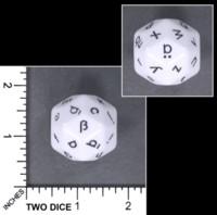 Dice : MINT61 KOPLOW D30 GERMAN LETTERS LOWER CASE