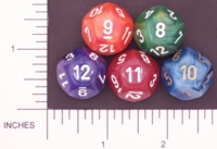 Dice : D12 OPAQUE ROUNDED SWIRL CHESSEX PHANTOM 02