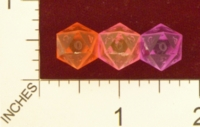 Dice : D20 CLEAR SHARP SOLID GAMESCIENCE MICROHEDRA 01