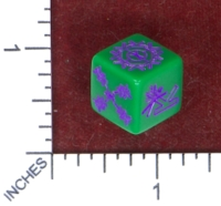 Dice : MINT50 ZUCATI CUSTOMDICE DOT COM DEATH AND DISMEMBERMENT VERSION 2 KICKSTATER EXCLUSIVE PROTOTYPE HULKICKSTARTER RECOLOR