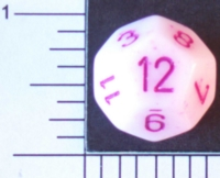 Dice : D12 OPAQUE ROUNDED SPECKLED WITH PURPLE 1