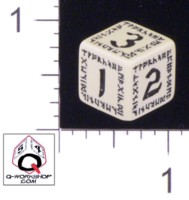 Dice : NUMBERED OPAQUE ROUNDED SOLID Q WORKSHOP RUNIC II 03
