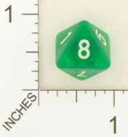 Dice : D8 CLEAR ROUNDED SOLID WEIBLE SPIELE 01