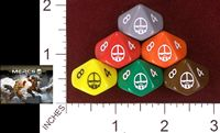 Dice : D10 OPAQUE ROUNDED SOLID MERCS LLC MERCS 01