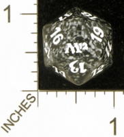 Dice : D20 OPAQUE ROUNDED SPECKLED MTG LIFE COUNTERS M12 04
