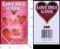 Dice : DUPS03 MOUNTAIN VIEW MARKETING LOVE DICE GAME 01