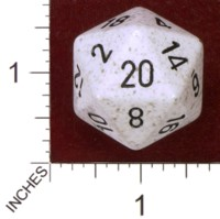Dice : D20 OPAQUE ROUNDED SPECKLED CHESSEX ARCTIC CAMO JUMBO 01